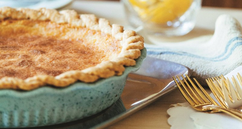 Lemon Chess Pie from Southern Baked cookbook