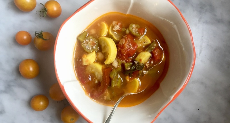 Anne Byrn's summer tomato vegetable soup