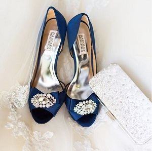 "Blue wedding for bride's ""something blue"""