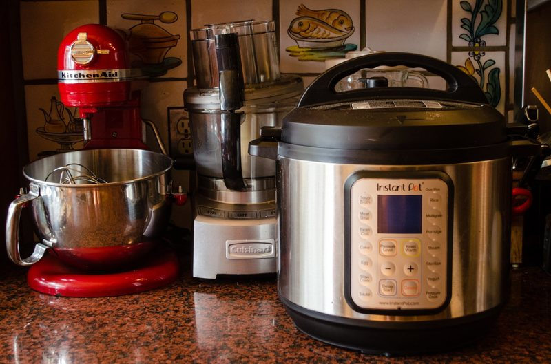 instant pot on kitchen counter