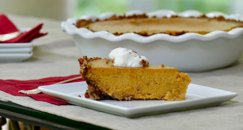 squash pie with pecan crust