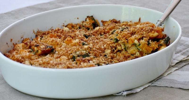 squash and kale casserole