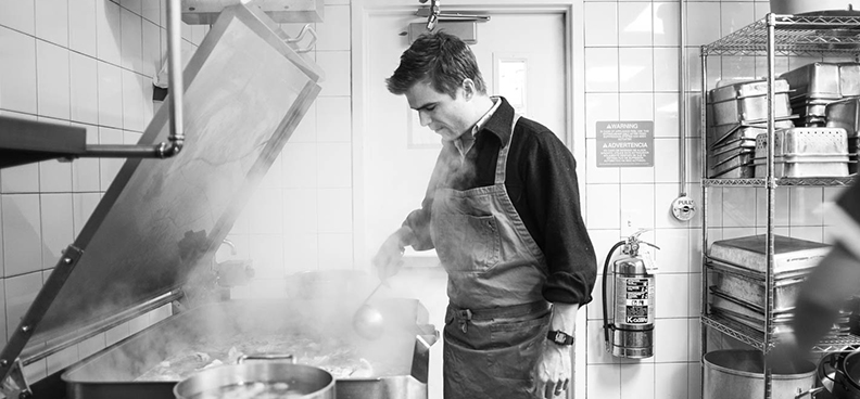 Chef Hugh Acheson cooking