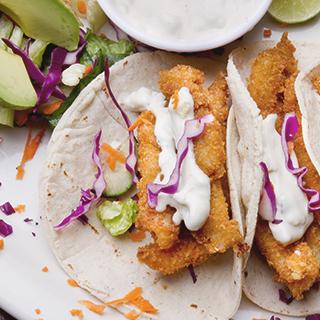 fried breakfast taco