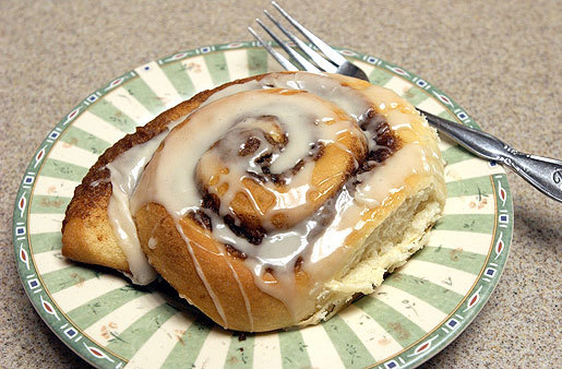 breakfast cinnamon roll