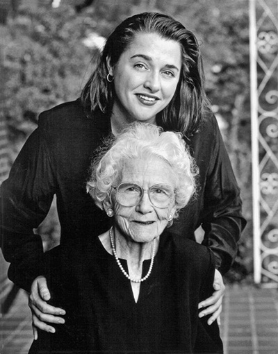 Virginia Willis and grandmother