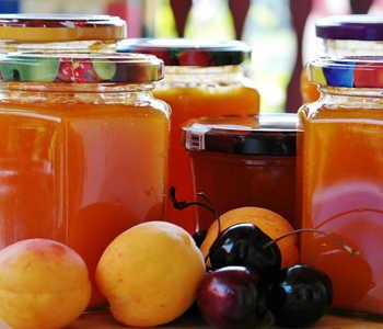 Glasses apricots cook fruit preparations jam 845326
