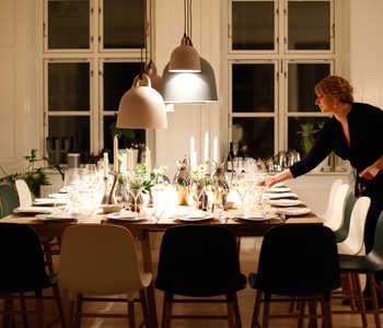 dinner preparations