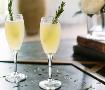 vesper mimosa cocktail