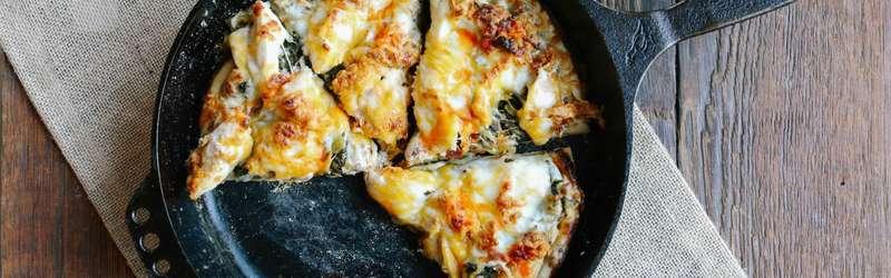 Cast iron fried chicken pizza 1584x846 ramona king