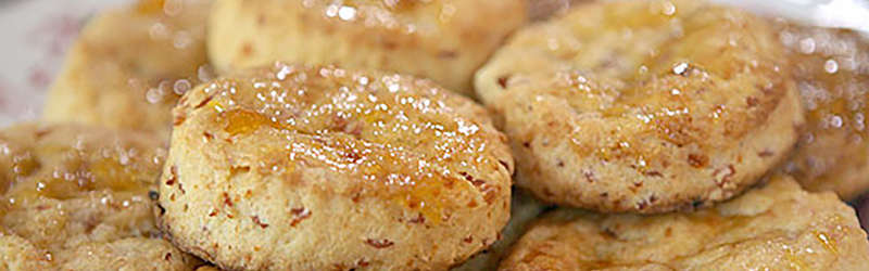Make these ham and peach biscuits