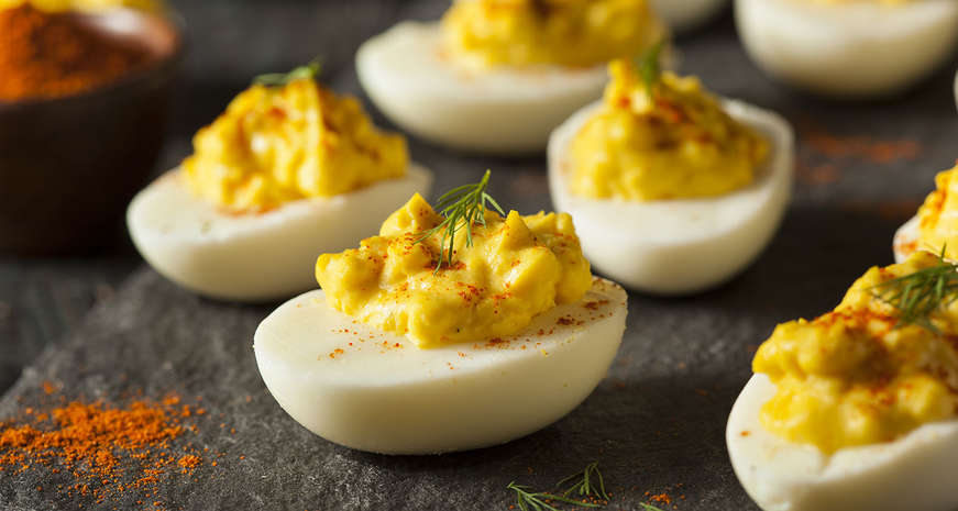5 creative deviled egg recipes southern kitchen put a creative spin on your deviled eggs with these 5 recipes forumfinder Gallery