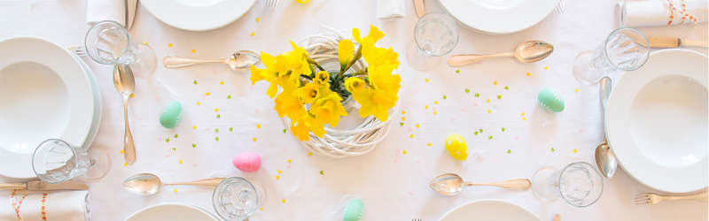 Easter themed dining table
