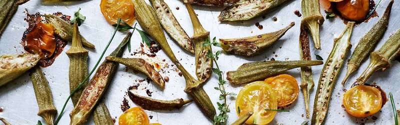 Southern veggies recipe roasted okra tomatoes