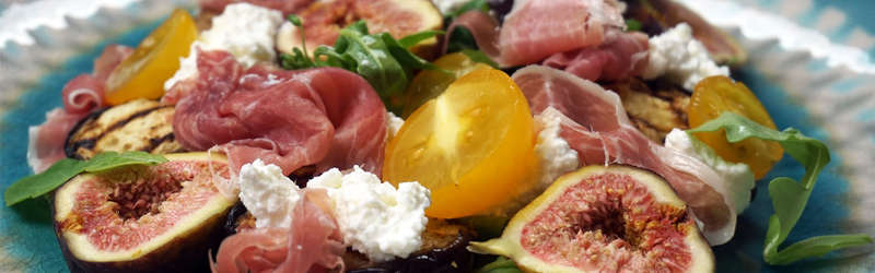 Figs  tomatoes  eggplants salad by lauren