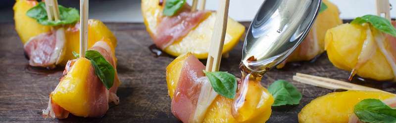 Peaches aren't just for dessert anymore: Here's an easy way to dress up fruit for a party