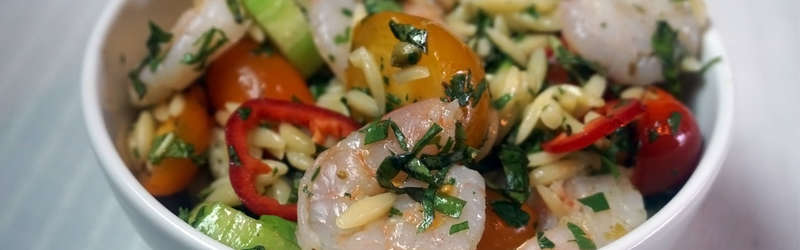 Shrimp pasta salad  photo by lauren booker