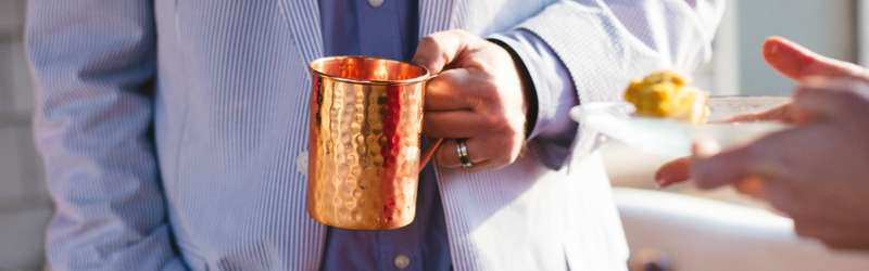 Copper drink mug hero size