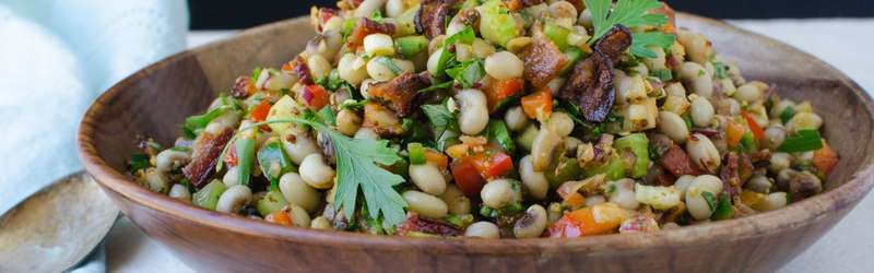 Smoky bacon meets hearty black-eyed peas in this easy, potluck-ready salad