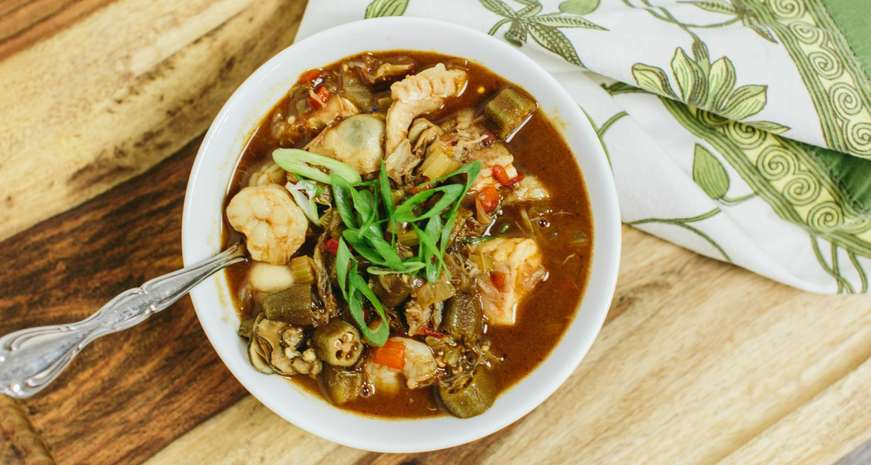 Two cajun chefs are heading to the food network southern kitchen seafood gumbo forumfinder Choice Image