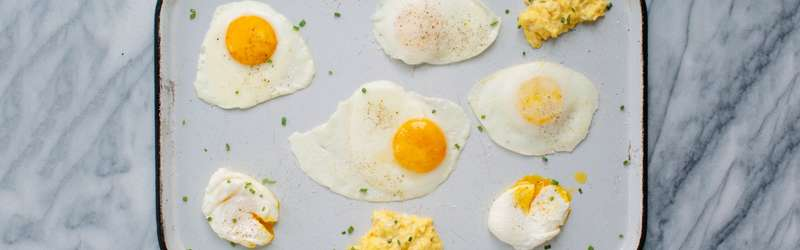 Perfect scrambled, fried and poached eggs