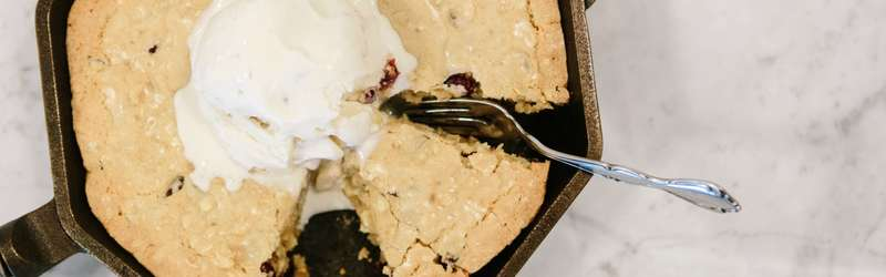 Cast Iron White Chocolate Cranberry Blondies