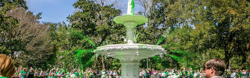 The Forsyth Park Fountain in Savannah