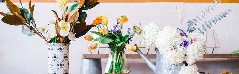 Three types of flower arrangements