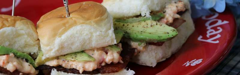 Proper Pepper Pimento-Bacon Sliders