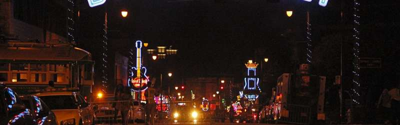 The entrance to Beale Street in Memphis