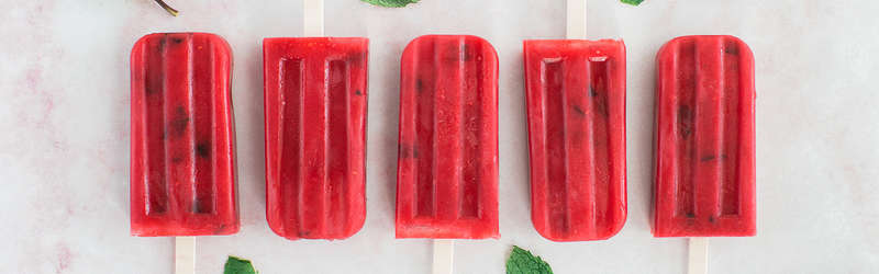 Raspberry Mint Popsicles