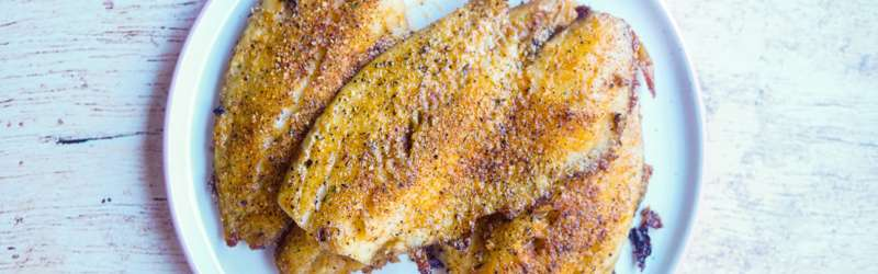 Creole broiled catfish