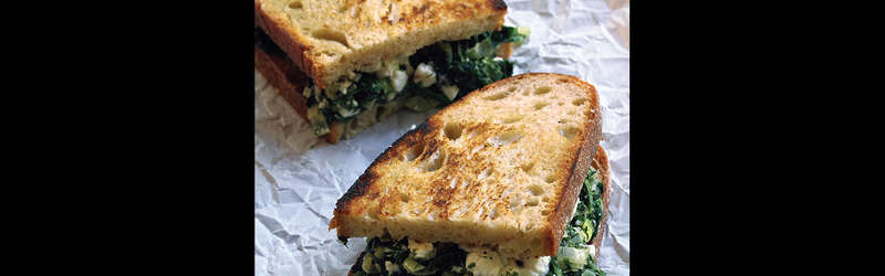 Spanakopita grilled cheese