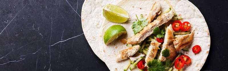 Bourbon lime chicken tacos