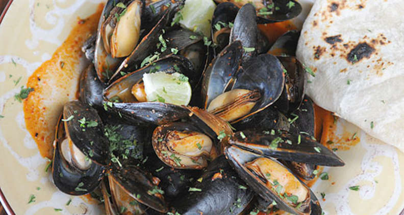 Mussels with Guajillo Sauce