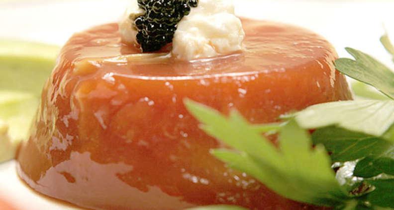 Southern Tomato Aspic with Artichokes