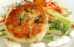 Crab Cakes With Whole Grain Mustard Sauce