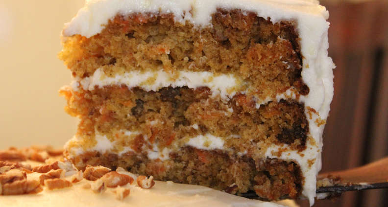 Layered Carrot Cake with Cream Cheese Icing