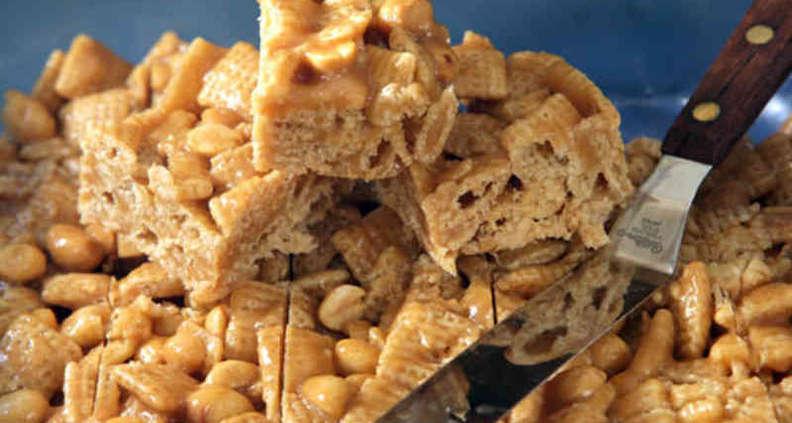 Crispy Peanut Squares
