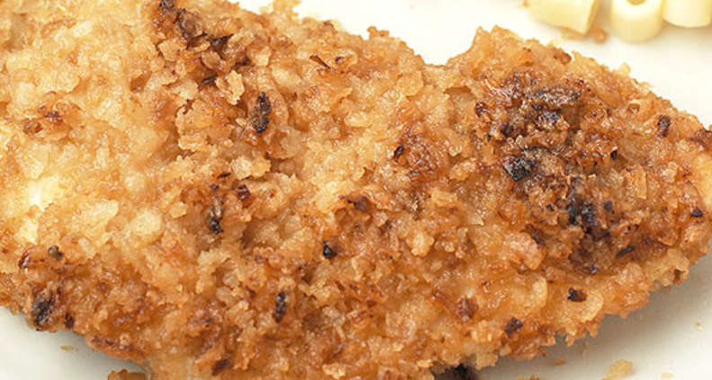 Crunchy Onion Crusted Chicken