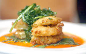 Fried Green Tomatoes With Goat Cheese