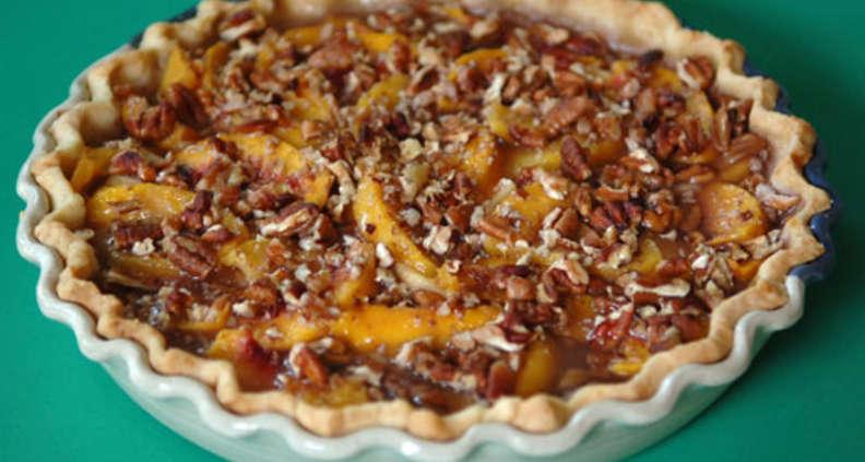 Georgia Peach and Pecan Pie