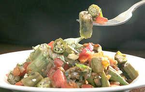 Grandma's Okra and Tomatoes