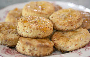 Ham and Peach Biscuits