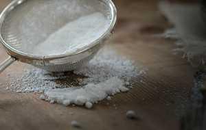 Sifting sugar