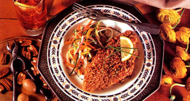 Mustard-Pecan Catfish