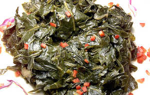 Honey-Braised Collard Greens from OK Cafe