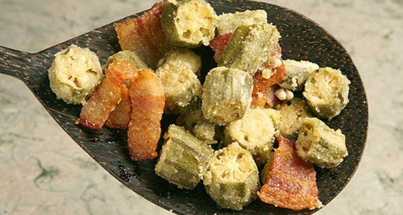 Okra Baked With Bacon
