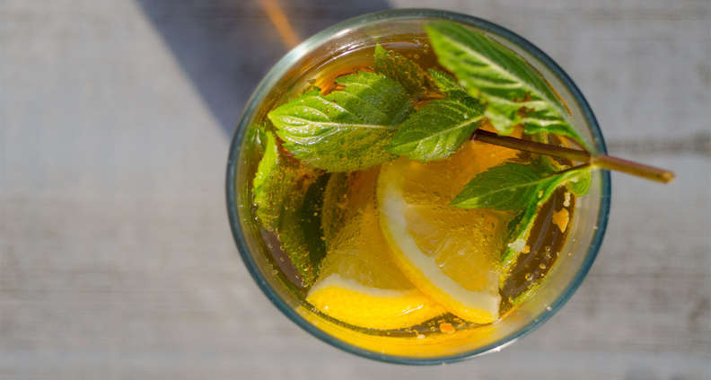 Pineapple Mint Sweet Tea