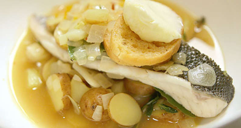Light Fish and Potato Soup